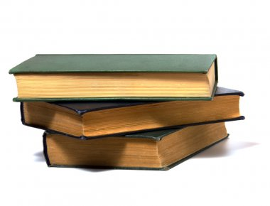 Book stack isolated on white
