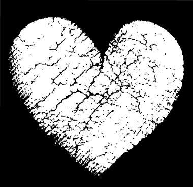 Broken vector heart