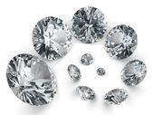 Spirála různých diamantů