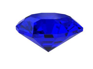 Dark-blue gemstone