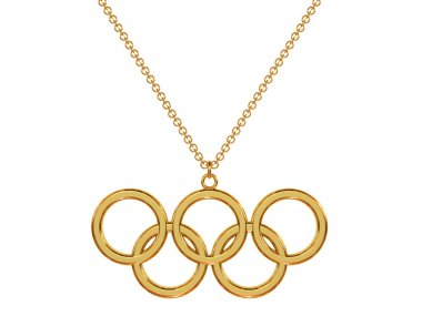 Gold pendant on chain