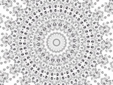 Circular mosaic pattern of diamonds