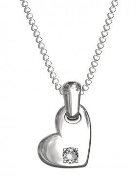Platinum or silver pendant