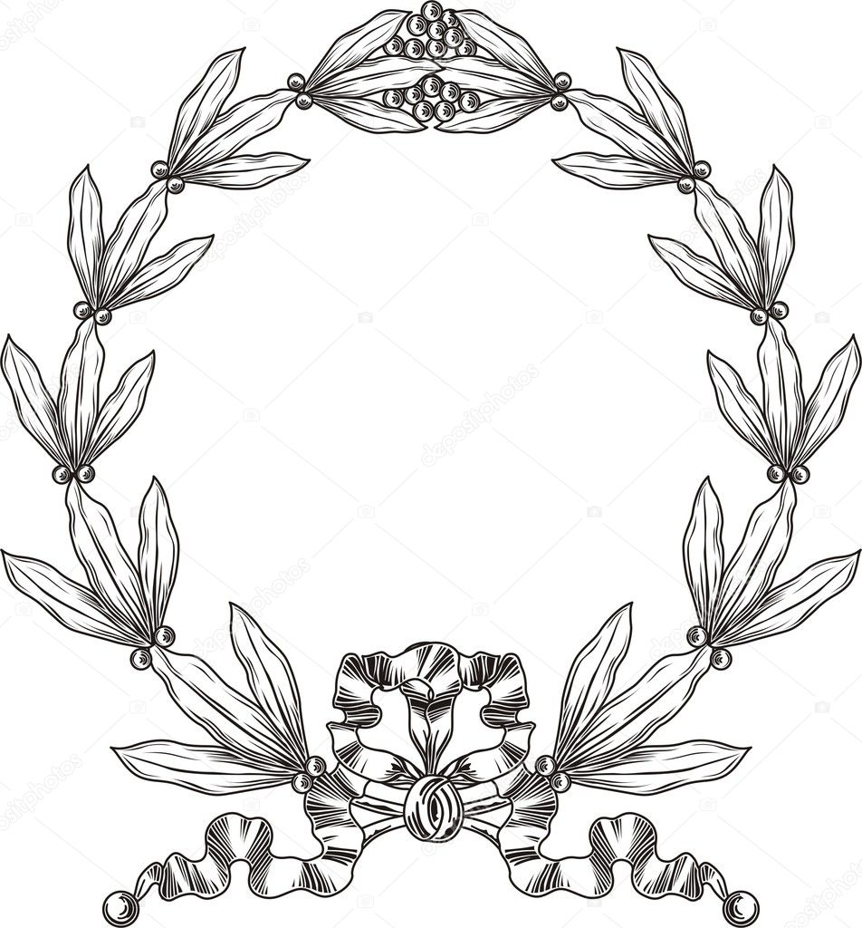Векторный Рисунок Лаврового Венка