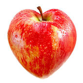 Red apple as a heart