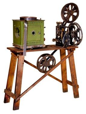 Old projector for cinema demonstration