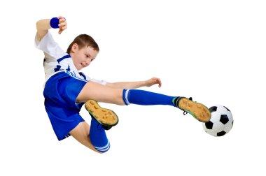 Boy a footballer