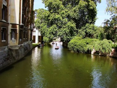 Punting on Cam from Cambridge