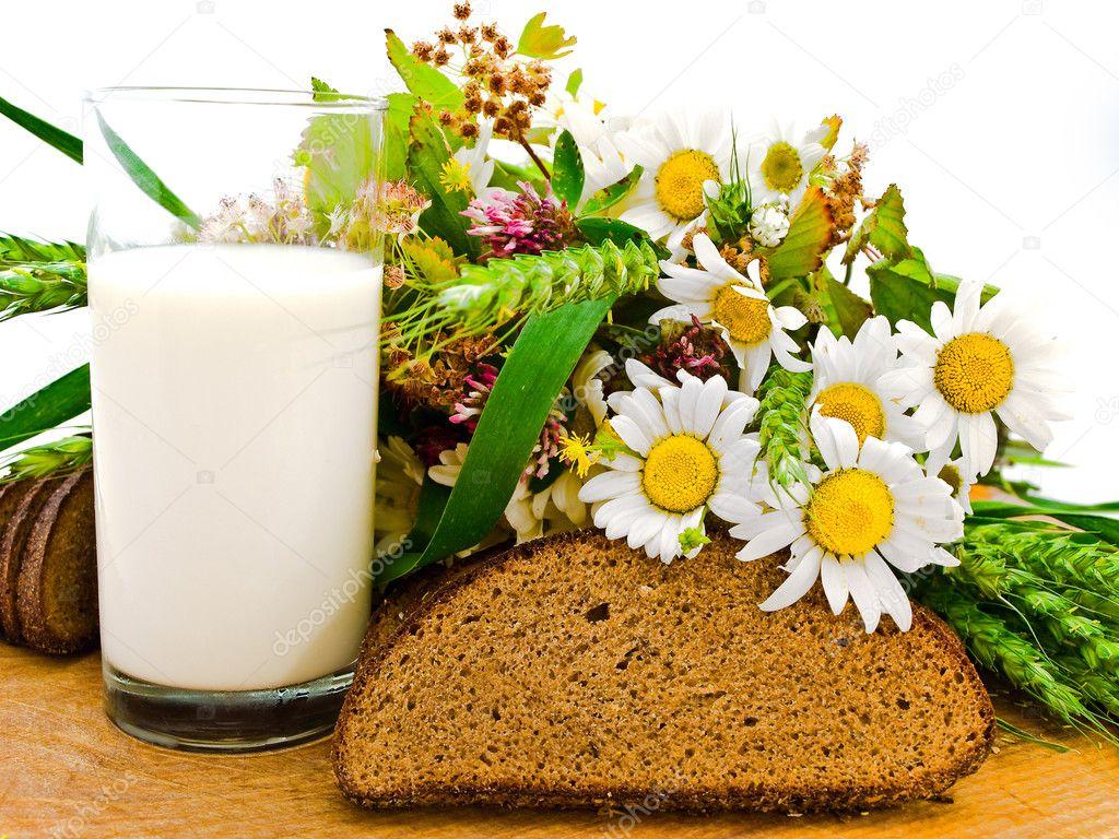Bread milk and camomile