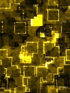 Abstract golden square background