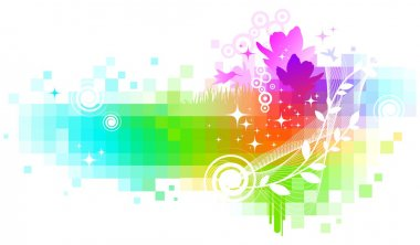Vector abstract multicolored background/ stock vector