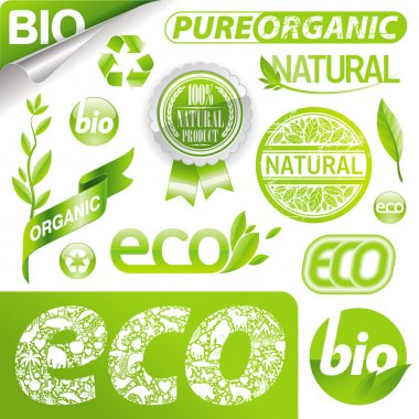 Collection of eco signs & emblem