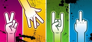 Four hand signs