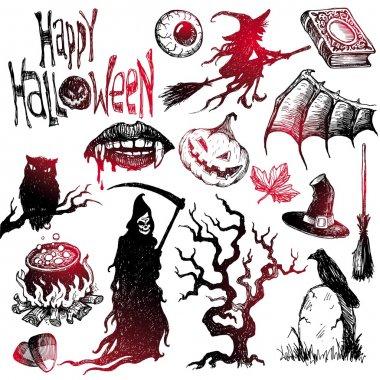 Halloween & horror hand drawn set