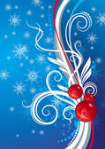 Blue background with Christmas toys