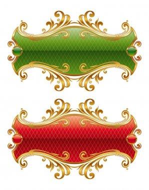 Luxury golden frames
