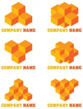 Set of abstract logos