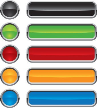 Colorful vector buttons for web design