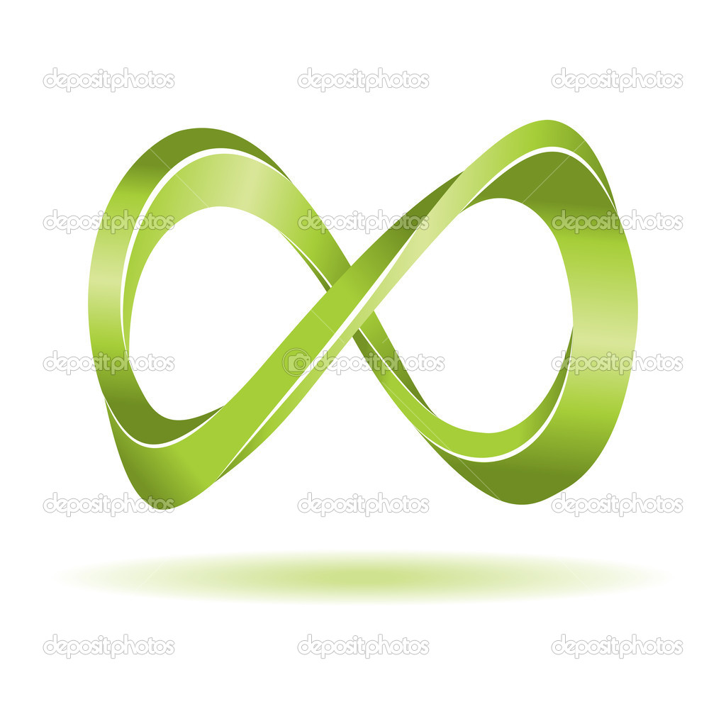Green Infinity Sign Stock Vector 2298303