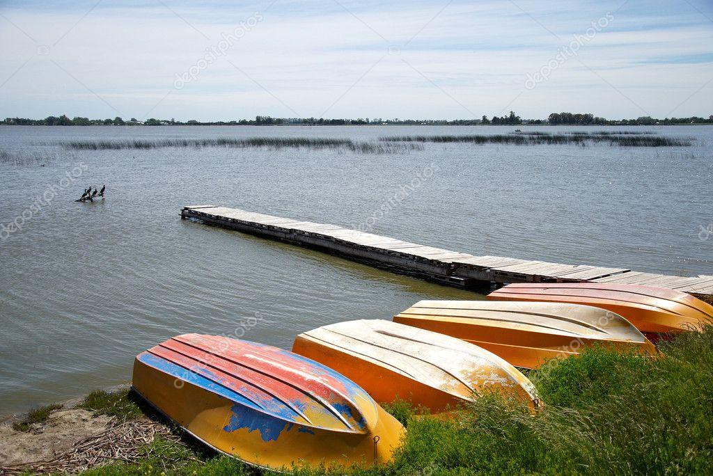 Several boats