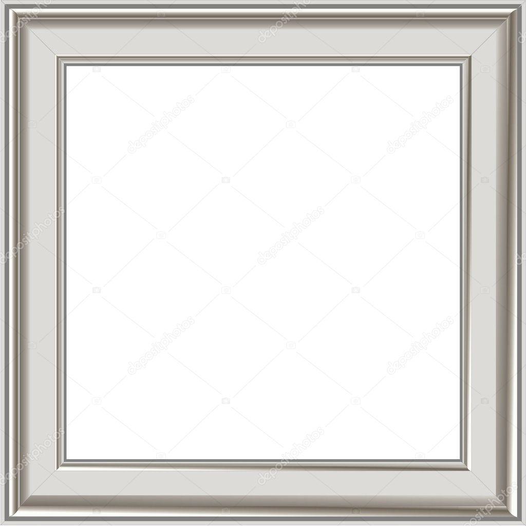 Modern silver photo frame — Stock Vector © AamerArt #1506428