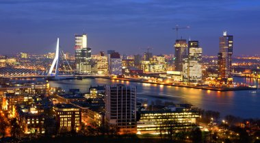Skyline of the city of rotterdam
