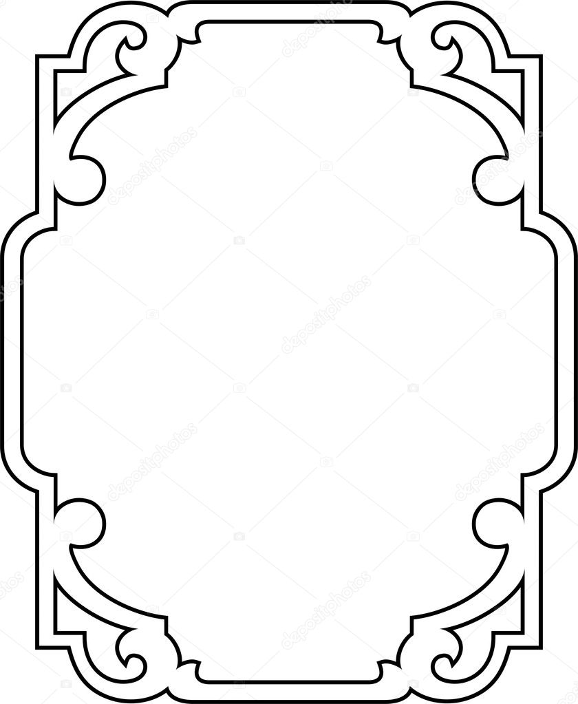 vector decorative border stock vector vectorart 1522064 rh depositphotos com decorative borders vector png decorative borders vector file download free