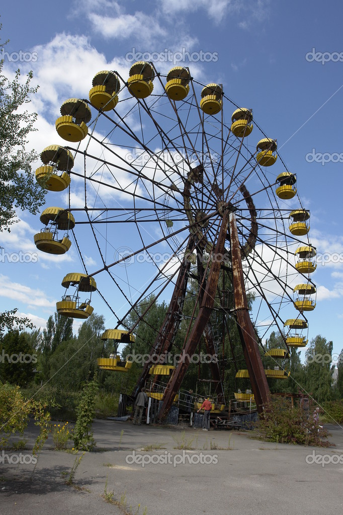 Ferris wheel in Pripyat, near Chernobyl