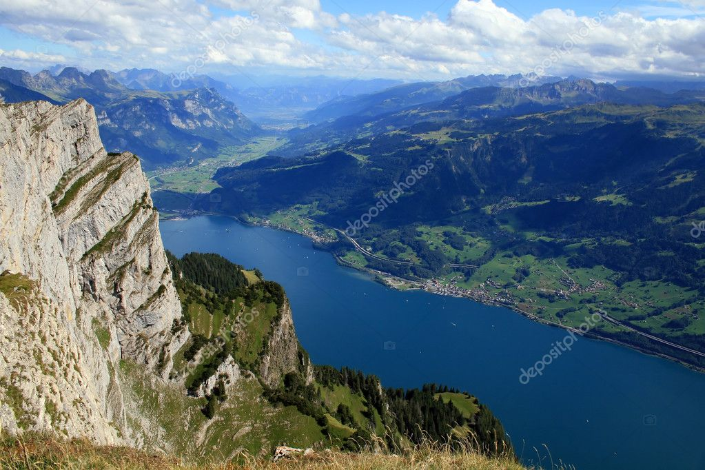 Wallensee view from the top