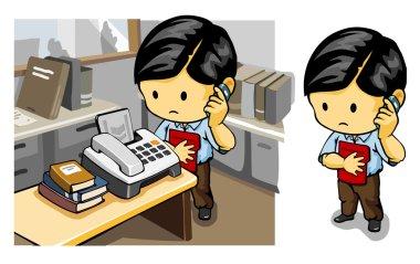 Staff on Telephone