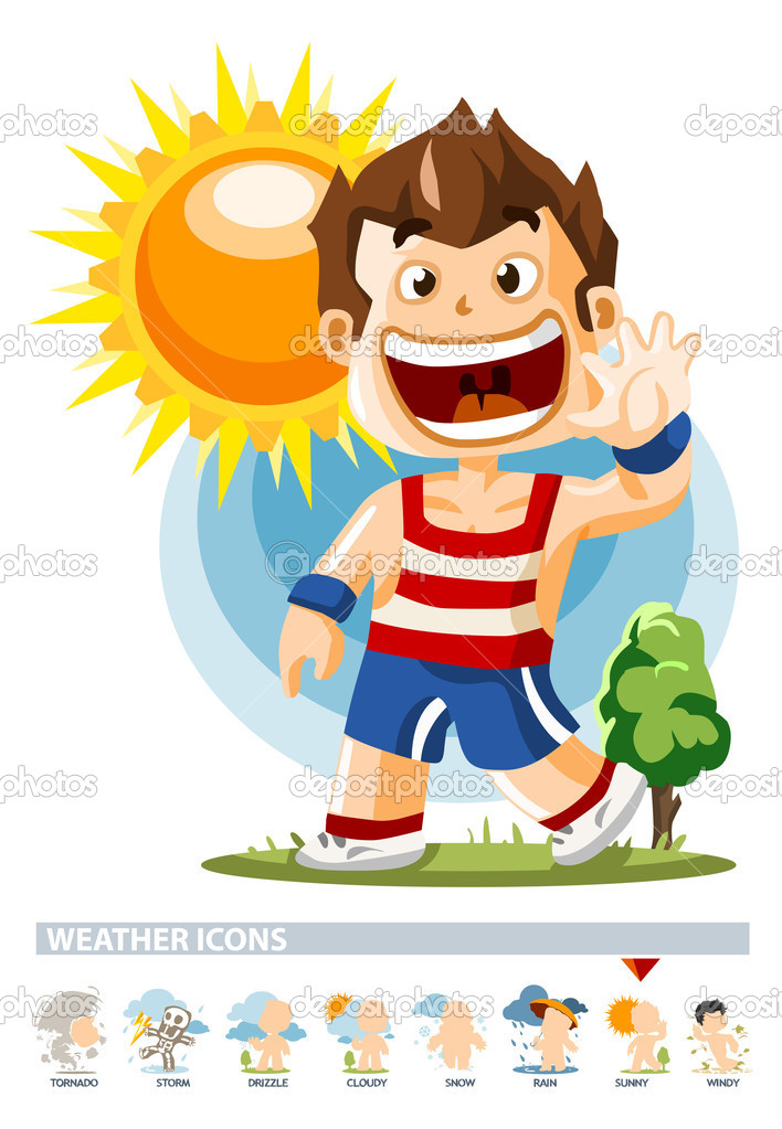 ᐈ Weather report stock cliparts, Royalty Free weather forecast cartoon  vectors | download on Depositphotos®