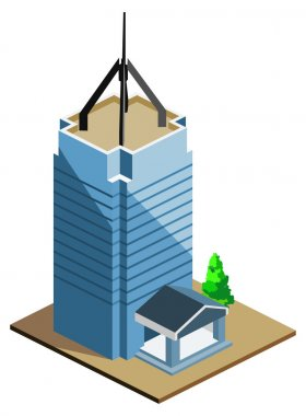 Skyscraper Building Isometric