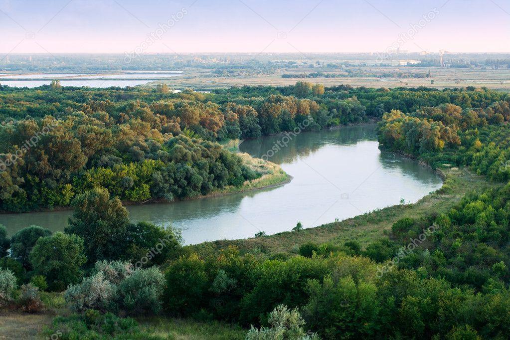 クバン川の朝 — ストック写真 © ...