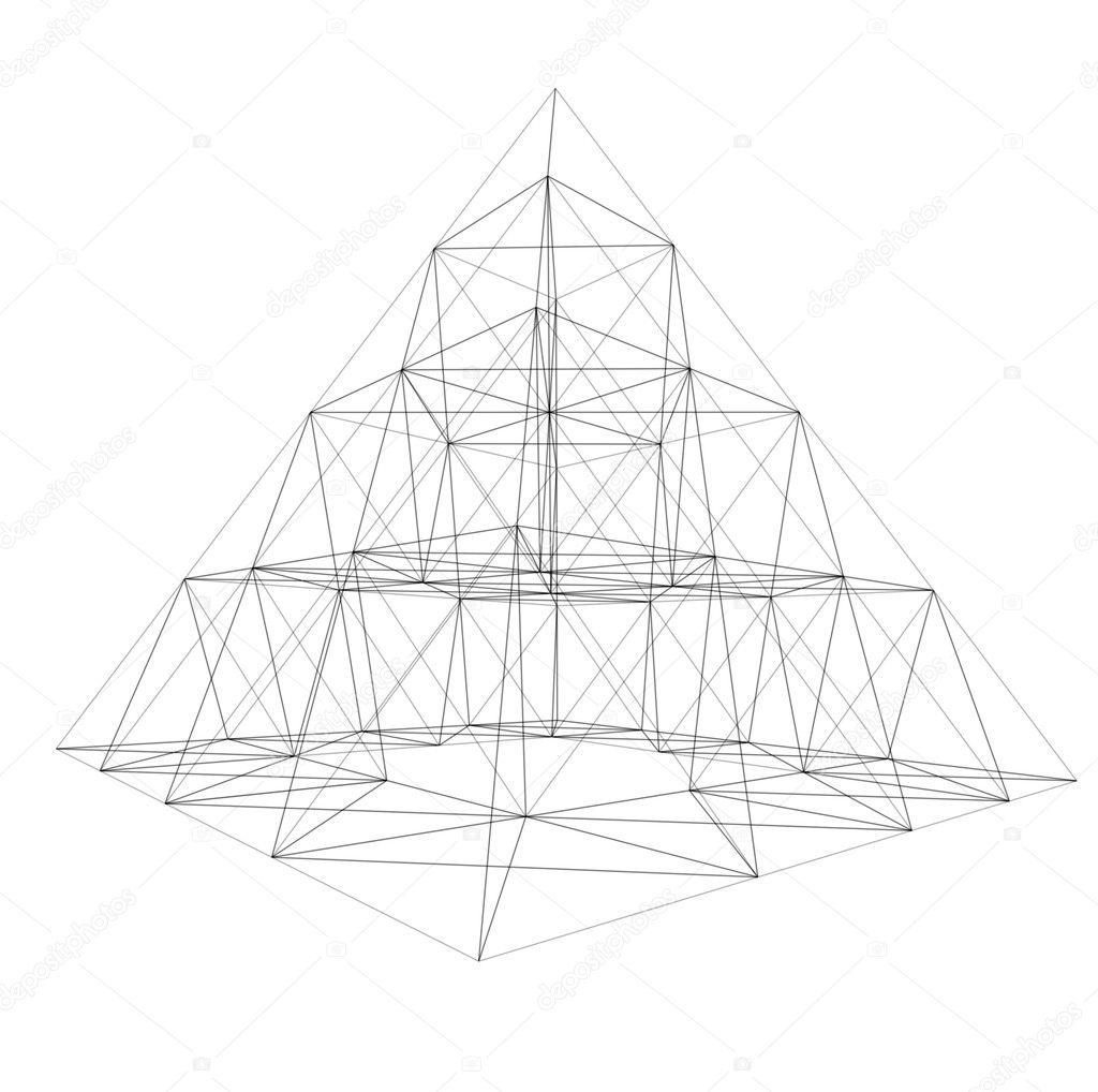 Pyramid wire-frame — Stock Photo © ArtyFree #1594345