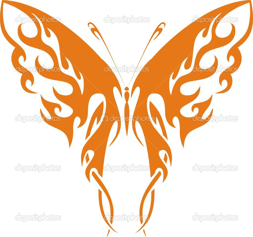 tribal butterfly drawings - HD