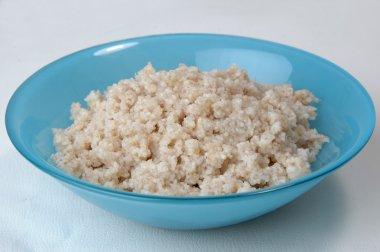 Groats porridge in plate