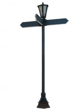 Signpost isolated