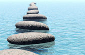 kámen ve vodě