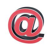 Symbol na izolované červené barvy