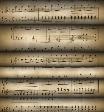 Roll old musical notes