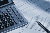 The calculator and the financial report