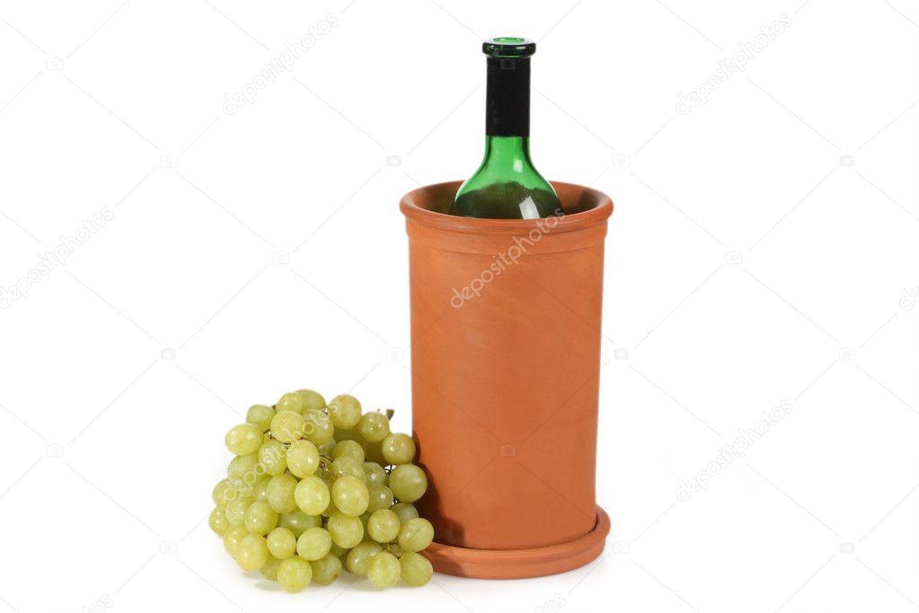 Wijnkoeler Met Licht : Wijnkoeler u stockfoto colour