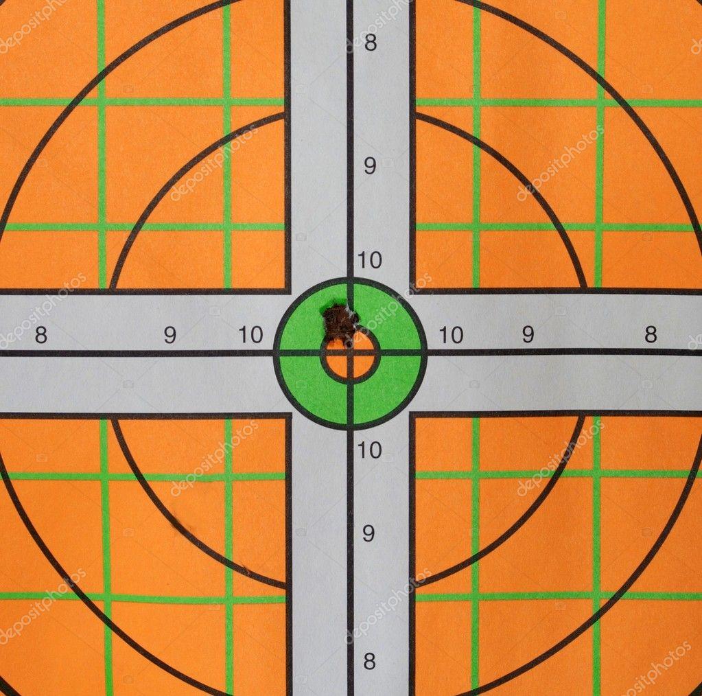 Bullseye Bullet Hole Stock Photo Deepspacedave 1536299
