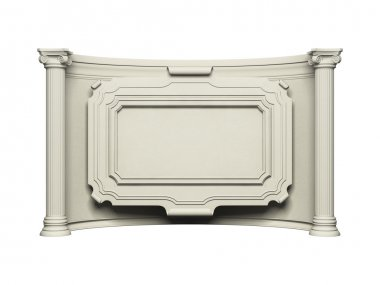 Architecture frame wall with column