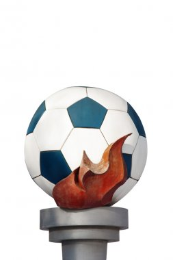 Soccer ball with torch