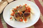 Rissole with pasta
