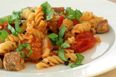 Pasta with baked tomato
