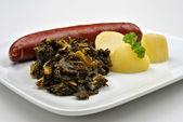 Smoked sausage with potato