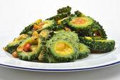 Fresh organic karela salad