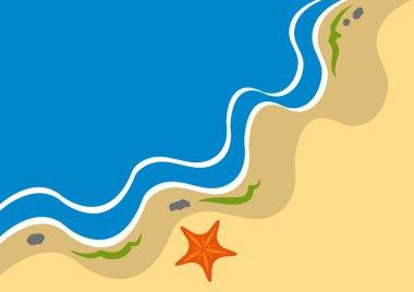 Adstract coastline background